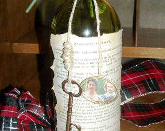 Dragonfly in Amber Altered Wine Bottle