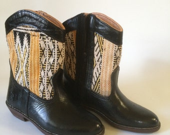 Handcrafted Kilim leather boots.