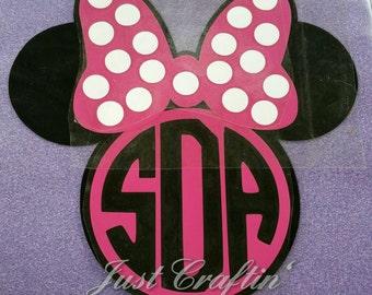 Minnie mouse custom iron on decal