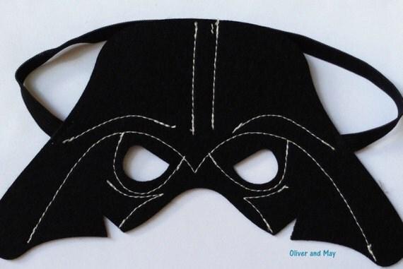darth vader schwarz herr filz und maske oder cape geburtstag. Black Bedroom Furniture Sets. Home Design Ideas