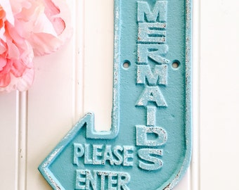 items similar to mermaid driftwood sign ornament on