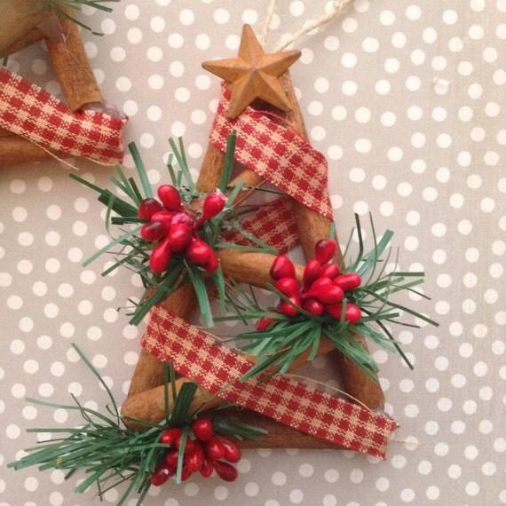Christmas Tree Ornaments Etsy: Christmas Tree Ornaments / Cinnamon Sticks By CraftsbyBeba