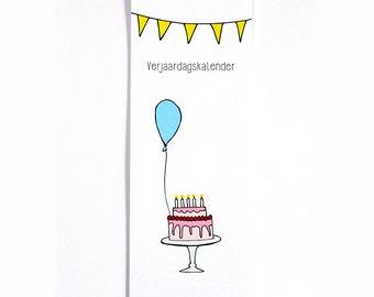 Birthday calendar | Illustration | Girly | Pastel |