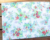 Vintage Twin Flat Sheet Colorful Daisy Wildflower Bouquet