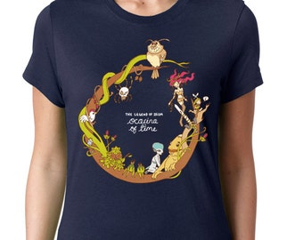 CUSTOM Ocarina of Time T-shirt ~ The Legend of Zelda ~ Navy ~ American Apparel