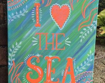 I Love The Sea wall art
