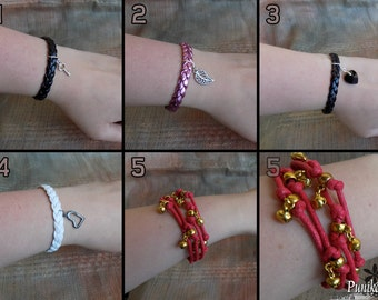 Strap Bracelets with Charms
