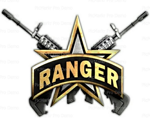 US Army Rangers Logo Birthday - Edible Cake and Cupcake Topper For Birthday's and Parties! - D20482