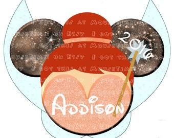 IRON-ON Fairies- Pixie Hollow Themed Ears - ALL 5! - Mouse Ears Tshirt Transfer