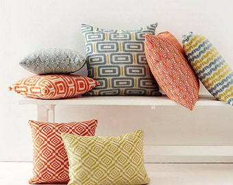 Jacquard, Geometric, Zig Zag, Tribal Cushion Covers. Pillow Covers. You Choose
