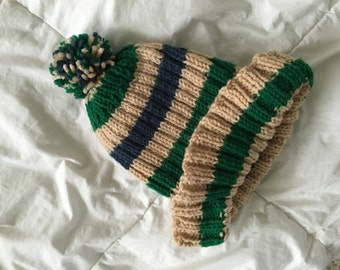 Vintage striped beanie