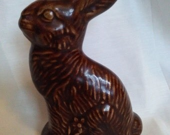 Bunny rabbit chocolate Easter Bunny faux chocolate ceramic bunny
