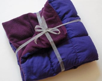 Weighted Lap Pad - a smaller weighted blanket that can go anywhere with you!