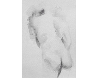 Figure - 5.5 x 8.5, graphite/wash on paper