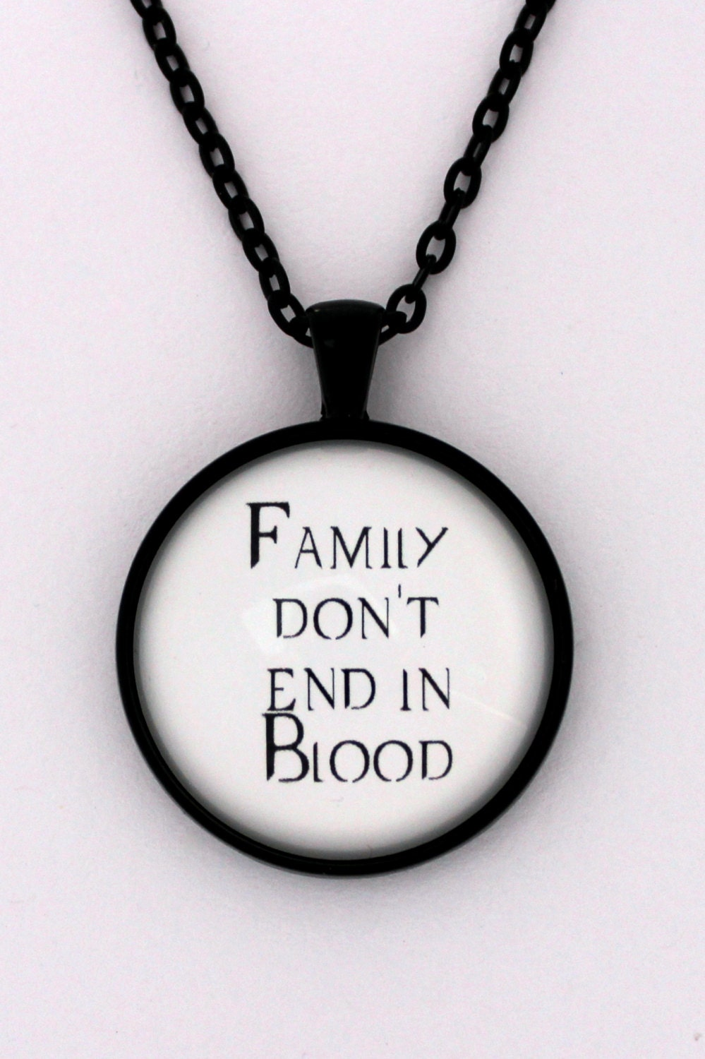 Supernatural Quotes Family Don T End With Blood: Family Don't End In Blood Supernatural Quote Dean Sam