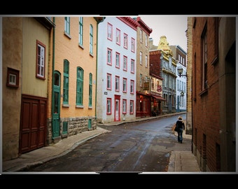 Quebec City: A Walk Down Narrow Back Streets Past Small Cafes and Shops