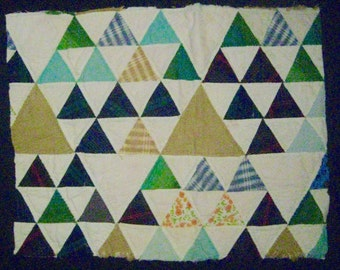 "Vintage Cutter Quilt Piece for Repurpose/Sewing/Crafts--Size is 20"" wide x 15"" high"