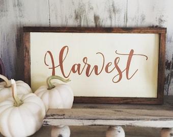 Wooden Farmhouse Harvest Sign