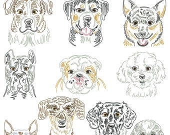 Dog breeds part 12 for the border 10x10cm