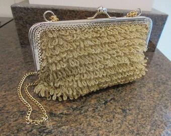 Vintage 1950's Gold Handbag - So Cute!!