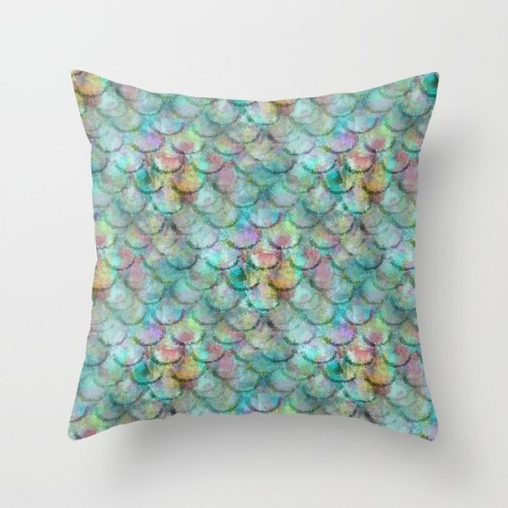 Mermaid Scale Pillow Cover Fish Scale pillow cover beach