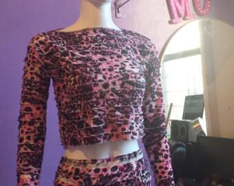 Pink pencil skirt set