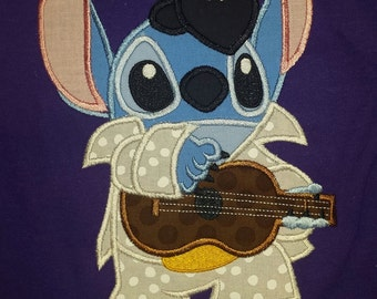 Elvis Stitch Disney vacation Custom Tee