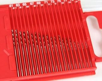 Dormer High Speed Twist Drill Set (One Each Sizes #61 thru #80) (28.0540)