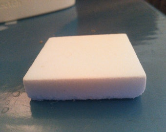 SALVAGED 1 1/2 inch square white mosaic tiles in white set of 5