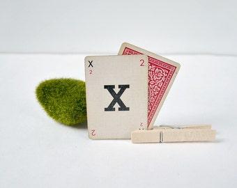 Vintage letter cards; letters for bunting; vintage typography; wedding decor