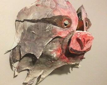 Sloth Paper Mache Mask