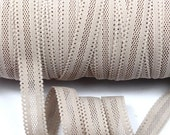 Soft Lace Elastic Taupe