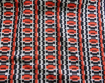 FABRICS COUPON of decoration and clothing, jersey tube, geometric motifs and vintage design 1970