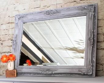 SOLD................Mirror, beveled ornate mirror. Hand painted mirror.
