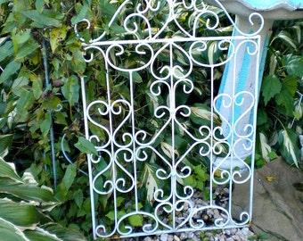 Vintage Metal Garden Gate, Architectural Salvage Gate, Anntique Iron Gate, Farmhouse Gate, Salvaged Metal, Architectural Garden