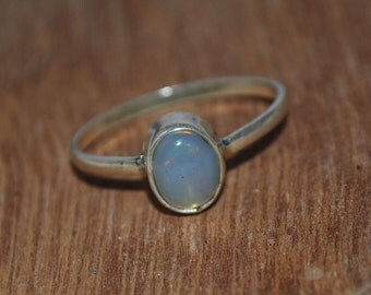 Ethiopian Opal Ring , Natural Opal Ring , 925 Sterling Silver Opal Ring , October Birthstone Ring ,Silver Welo Opal Ring N37