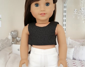 18 inch doll black crop top