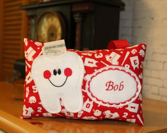 Boys Tooth Fairy Pillow - Tooth Fairy Pillow - Personalized Tooth Fairy Pillow - Sports Tooth Fairy Pillow - Tooth Pillow Boys - Pillow