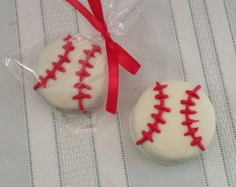 Baseball Chocolate Covered Oreos