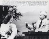 "Vintage Original photograph Johnny Carson & Raquel Welch - ""Tonight Show""- Hollywood, dated: 5/3/79 - Celebrity-FREE SHIPPING !!!"