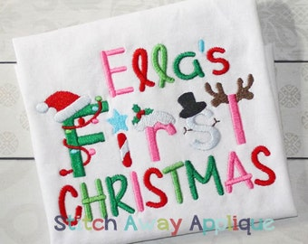 First Christmas Machine Embroidery Design
