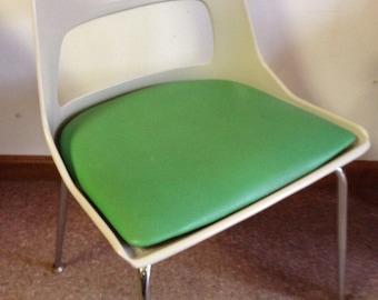 Retro Fiberglass and Green Chair