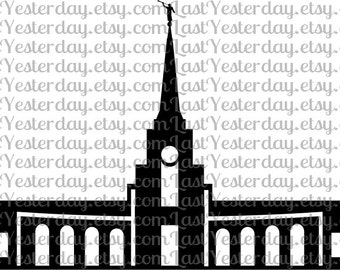 LDS Fort Lauderdale Florida Temple DIGITAL DOWNLOAD svg dxf jpg png