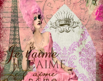 Marie Antoinette Collage  8.5 x 11 inches.