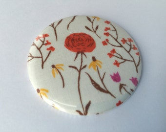 Cute Country Floral Fabric Pocket Mirror - needs new photo