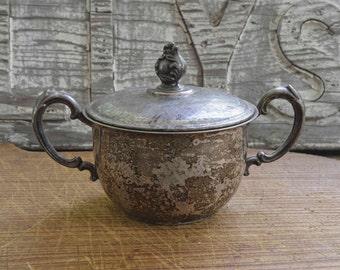 Vintage Silverplated Sugar Bowl