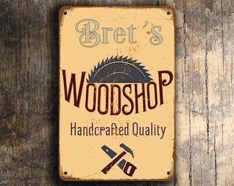 Custom WOODSHOP SIGN, Customizable Woodshop Signs, Vintage style Woodshop Sign, WOODSHOP, Personalized Woodshop Signs, Carpenter Signs