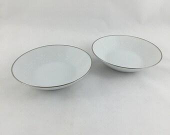 Noritake Reina Pattern Dessert Bowls Fine China Replacement Set of 2