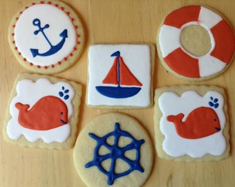 Nautical Themed Sugar Cookies