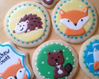 Woodland/Forest Themed Sugar Cookies